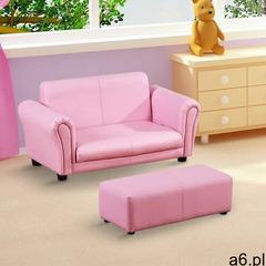 Aosom Kanapa sofa dla dziewczynki z hokerem - ogłoszenia A6.pl