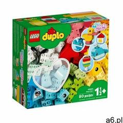 Lego klocki duplo 10909 pudełko z serduszkiem + klocki duplo 2304 płytka budowlana - ogłoszenia A6.pl