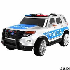 Suv polska policja samochód na akumulator + światła policyjne + megafon! marki Ramiz - ogłoszenia A6.pl