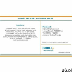 L'oreal professionnel tecni art fix design directional fixing spray precyzyjny spray do miejscow - ogłoszenia A6.pl
