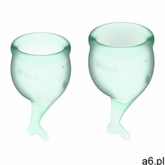 Satisfyer (ge) Kubeczki menstruacyjne feel secure set light green (4061504002279) - ogłoszenia A6.pl