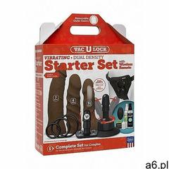Doc johnson - vac-u-lock Zestaw akcesoriów do zabaw erotycznych 1053-22-bx - vibrating dual density  - ogłoszenia A6.pl