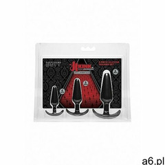 Zestaw treningowy korków analnych 3 sztuki - anal essentials 3-piece silicone trainer set - 2401-47- - ogłoszenia A6.pl