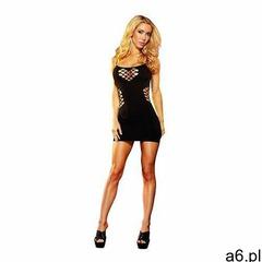 Zmysłowa sukienka odsłonięte plecy - cash cage mini dress black s/m marki Lapdance - ogłoszenia A6.pl