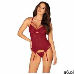 Gorset ivetta corset rozmiar: l/xl, kolor: bordowy, obsessive marki Obsessive - ogłoszenia A6.pl