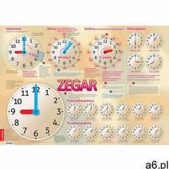 Zegar Plansza edukacyjna na ścianę i biurko plus książeczka edukacyjna - ogłoszenia A6.pl