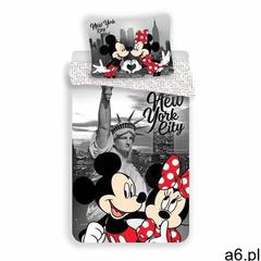 """Pościel dziecięca Jerry Fabrics """"Micky and Minnie in New York"""" micro, 140 x 200 cm, 70 x 90  - ogłoszenia A6.pl"""