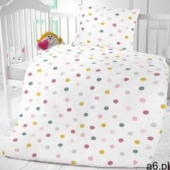 Bawełniana pościel dziecięca do łóżeczka Kuleczki na białym tle, 90 x 135 cm, 45 x 60 cm - ogłoszenia A6.pl
