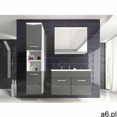 Komplet NINA z ledami - meble łazienkowe - Lakier szary - ogłoszenia A6.pl
