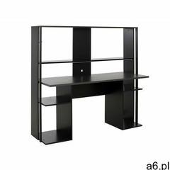 Biurko gamingowe standa – z miejscem do przechowywania i oświetleniem led – kolor czarny marki Vente - ogłoszenia A6.pl