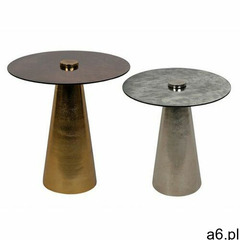 Vente-unique Wysuwane ławy layla – metal i szkło – kolor szary i miedziany - ogłoszenia A6.pl
