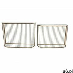 Wsuwane konsole fedora - szkło i złocony metal marki Vente-unique - ogłoszenia A6.pl