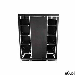 Szafa na ubrania podwójna z półkami czarna, 00000666 - ogłoszenia A6.pl