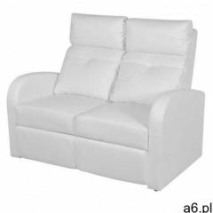Podwójne rozkładane fotele kinowe z ekoskóry mevic 2x – białe marki Producent: elior - ogłoszenia A6.pl