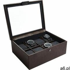 Stackers Pudełko na zegarki ośmiokomorowe brązowe - ogłoszenia A6.pl