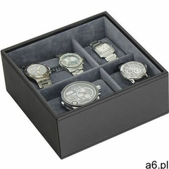 Stackers Pudełko na zegarki kwadratowe szare - ogłoszenia A6.pl