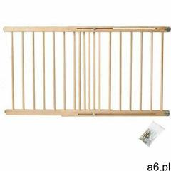 Iso trade Bramka zabezpieczająca schody, drzwi drewniana 72-122 cm - ogłoszenia A6.pl