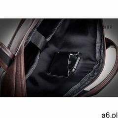 Męska torba saszetka na ramię laptopa Solier czarna S13 - ogłoszenia A6.pl