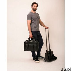 """Mcklein Skórzana torba podróżna na laptopa 17"""" z odpinanym wózkiem damen brązowa - ogłoszenia A6.pl"""