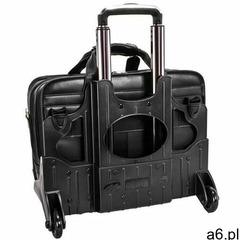 """Skórzana torba podróżna na laptopa 17"""" z odpinanym wózkiem mcklein roosevelt 84555 - ogłoszenia A6.pl"""