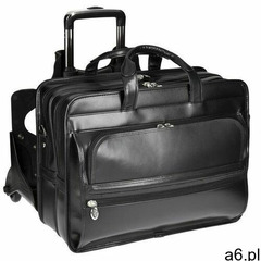 Skórzana torba podróżna na laptopa z odpinanym wózkiem mcklein franklin 86445, kolor różowy - ogłoszenia A6.pl