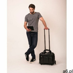 """Mcklein Skórzana torba podróżna na laptopa 17"""" z odpinanym wózkiem damen 80715 czarna - ogłoszenia A6.pl"""