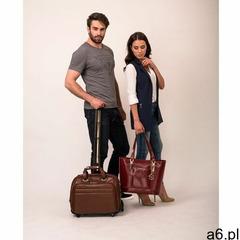 """Mcklein Skórzana torba podróżna na laptopa 17"""" z odpinanym wózkiem midway 86604 brązowa - ogłoszenia A6.pl"""