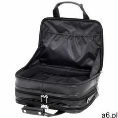 """Skórzana torba podróżna na laptopa 17"""" z odpinanym wózkiem teczka 3w1 chicago 83585 marki Mcklei - ogłoszenia A6.pl"""