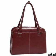 """Mcklein Skórzana torba damska na laptopa 15,4"""" oak grove czerwona - ogłoszenia A6.pl"""