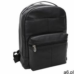 Mcklein Skórzany męski plecak na laptopa parker 88555 czarny - ogłoszenia A6.pl
