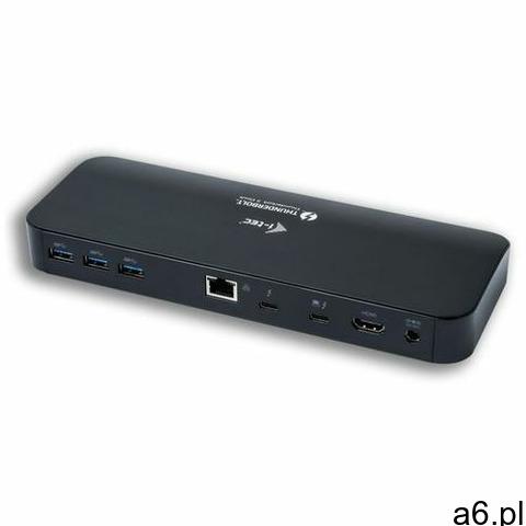 i-tec Stacja Dokująca Thunderbolt 3 Dual 4K 2x 4K/60Hz lub 1x 5K/60Hz 2x TB3 port PD 85W USB-C do Di - 1