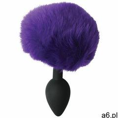 Plug silikonowy z ogonkiem pomponem - sincerely silicone bunny butt plug fioletowy marki Sportsheets - ogłoszenia A6.pl