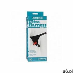 Uprząż strap-on z didlo- czarna 1010-02-bx - ultra harness 2 with plug marki Doc johnson - vac-u-loc - ogłoszenia A6.pl