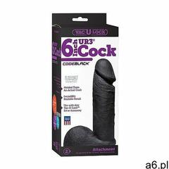 Mały realistyczny czarny penis + jądra 1016-08-bx vac-u-lock - codeblack - realistic ur3 cock -  - ogłoszenia A6.pl