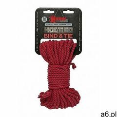 Lina do wiązania - 6mm hemp bondage rope - 15m red - czerwona 2404-58-cd - ogłoszenia A6.pl