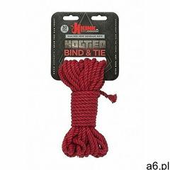 Lina do wiązania - 6mm hemp bondage rope - 9m red - czerwona 2404-57-cd - ogłoszenia A6.pl