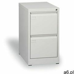B2b partner Szafa kartotekowa a4, 2 szuflady, szara, wys. 720 mm - ogłoszenia A6.pl