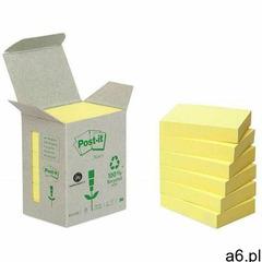 Bloczki ekologiczne POST-IT (653-1B), 38x51mm, 6x100 kart., żółte - ogłoszenia A6.pl