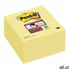 Karteczki POST-IT Super sticky XL w linie (675-SS6-Y) 101x101mm 6x90 kart. żółty, 3M-70005271963 - ogłoszenia A6.pl