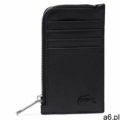 Etui na karty kredytowe LACOSTE - Slim Zip Card Holder NH3458DD Noir 000 - ogłoszenia A6.pl