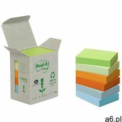 Bloczki ekologiczne post-it (653-1gb), 38x51mm, 6x100 kart., mix kolorów marki Post-it-3m - ogłoszenia A6.pl