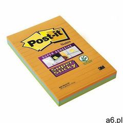 Karteczki POST-IT Super sticky XXL w linię (4645-3SSAN ) 101x152mm 3x45 kart. paleta bankok, 3M-7000 - ogłoszenia A6.pl