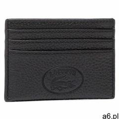 Etui na karty kredytowe LACOSTE - Cc Holder NF3404NL Noir 000 - ogłoszenia A6.pl