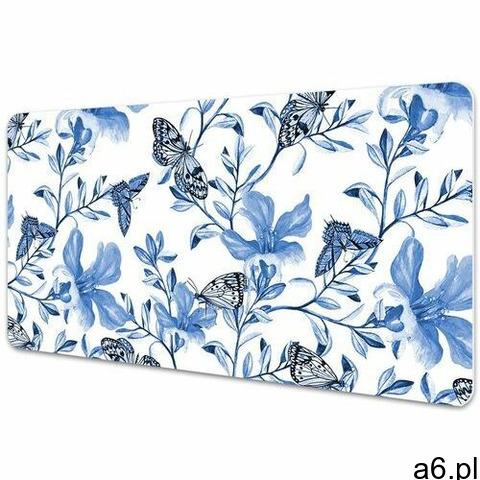 Mata na biurko Mata na biurko Błękitne kwiaty - 1