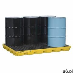 Paleta (wanna) wychwytowa, polietylenowa LOW, Eco 45%, platforma robocza, 6 beczek, 276 litrów, żółt - ogłoszenia A6.pl