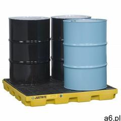 Paleta (wanna) wychwytowa, polietylenowa LOW, Eco 45%, platforma robocza, 4 beczki, 185 litrów, żółt - ogłoszenia A6.pl