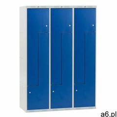 Szafa ubraniowa CLASSIC, typ L, 3 moduły, 6 drzwi, 1740x1200x550 mm, niebieski, 313592 - ogłoszenia A6.pl