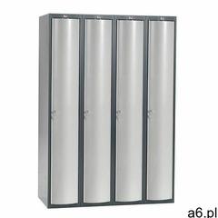 Szafa szatniowa curve, 4 moduły, 4 drzwi, 1740x1200x550 mm, jasnoszary marki Aj produkty - ogłoszenia A6.pl