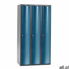 Aj produkty Szafa szatniowa curve, 3 moduły, 3 drzwi, 1740x900x550 mm, niebieski - ogłoszenia A6.pl