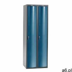 Szafa szatniowa CURVE, 2 moduły, 2 drzwi, 1740x600x550 mm, niebieski - ogłoszenia A6.pl